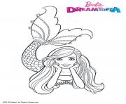 Coloriage Barbie Sirene Multicolore