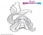 Barbie Sirene Multicolore dessin à colorier