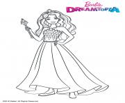 Coloriage Princesse Barbie Pailletes Filles