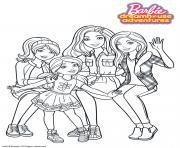 Barbie Chelsea Stacie et Skipper dessin à colorier
