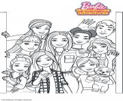 Coloriage Barbie Dreamhouse Adventure Tous les amis de Barbie