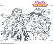 Barbie Dreamhouse Adventure Tous les amis de Barbie dessin à colorier