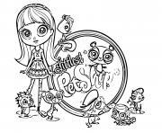 Littlest Pet Shop dessin à colorier