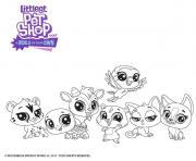 Vive les animaux Petshop dessin à colorier