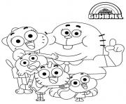 La famille Watterson dessin à colorier