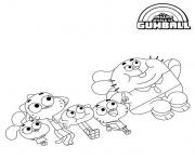 Une super famille dessin à colorier