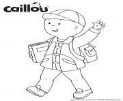 rentree scolaire caillou aime aller a lecole dessin à colorier