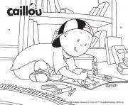 caillou colorie son nouveau livre de coloriages dessin à colorier