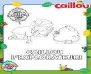 caillou explorateur animaux et insectes dessin à colorier