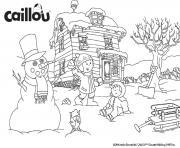 activites hiver avec caillou et mousseline faire un bonhomme de neige dessin à colorier
