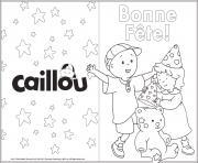 carte de souhait joyeux anniversaire caillou mousseline dessin à colorier