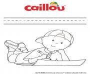caillou adore dessiner et colorier dessin à colorier