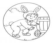 leo cherche des oeufs de paques dessin à colorier