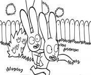simon et son grand frere gaspard dessin à colorier