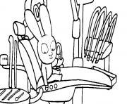 le petit lapin simon au dentiste dessin à colorier