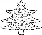 arbre de noel simple et facile maternelle avec une etoile dessin à colorier