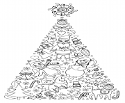 amusant arbre de noel mandala pour enfants facile dessin à colorier