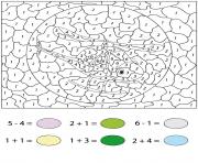 helicoptere calcul math par numero dessin à colorier