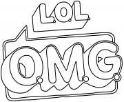 LOL OMG Logo dessin à colorier