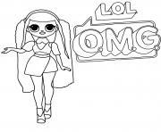 Lol Omg Logo Canylicious Girl dessin à colorier