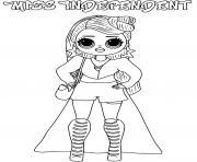 miss independent lol omg dessin à colorier