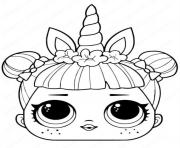 licorne lol surprise unicorn dessin à colorier