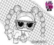 LOL Surprise Remix Brass Kitty dessin à colorier