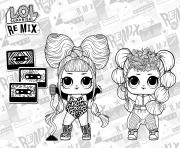LOL Surprise Remix Coloring Image dessin à colorier