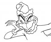 peux tu entendre le Grinch dessin à colorier