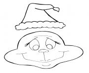 Grinch et son chapeau de noel dessin à colorier