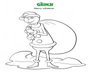 Merry Whatever Grinch dessin à colorier