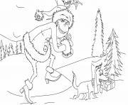 le grinch et son volent les cadeaux de noel dessin à colorier