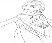 elsa et sa belle robe dans le royaume scandinave dessin à colorier