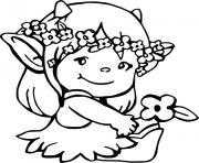 bebe lutin fille princesse dessin à colorier