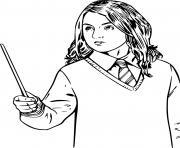 hermione granger patronus en forme de loutre dessin à colorier