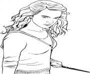 hermione de harry potter dessin à colorier