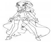 Carissa Lolirock Princesse dessin à colorier
