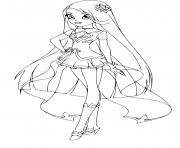 Lina Lolirock Star Princesse dessin à colorier