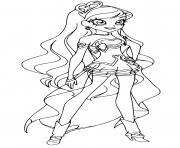 Lolirock Iris Princesse dessin à colorier
