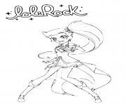LoliRock Auriana Coloring Page Princess of Volta dessin à colorier