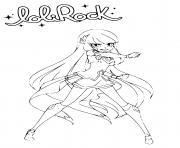 LoliRock Talia Princess of Xeris Coloring Page dessin à colorier