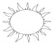 le soleil en ete dessin à colorier