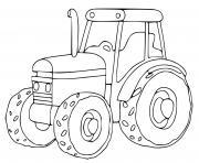 tracteur dessin à colorier