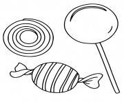 bonbons pour les enfants de la maternelle dessin à colorier