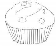 muffin cupcake dessin à colorier