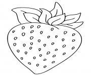 une fraise dessin à colorier