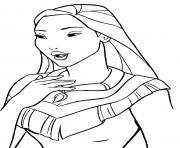 princesse Pocahontas dessin à colorier