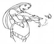 Disney Princesse du peuple amerindien dessin à colorier