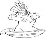 Pocahontas Raton Laveur dessin à colorier