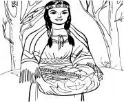 La veritable Pocahontas dessin à colorier